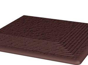 Керамическая плитка Cloud Brown Duro Ступень угловая структ 30х30х1