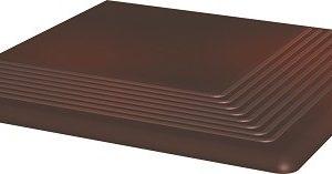 Керамическая плитка Cloud Brown ступень угловая 30х30  10 (шт)