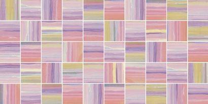 Керамическая плитка Фламинго лиловый Мозаика стандарт 10-31-51-271 25х50