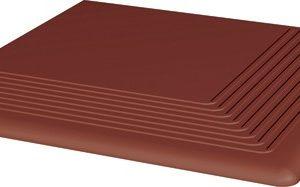 Керамическая плитка Клинкер Natural Rosa ступень угловая 300х300 мм 10 шт.