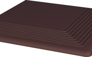 Керамическая плитка Natural Brown ступень угловая 30х30х1
