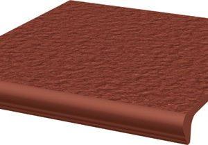 Керамическая плитка Natural Rosa Duro ступень простая с носиком структ 30х33х1