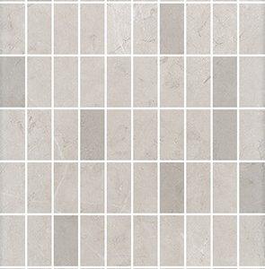 Керамическая плитка Низида Декор мозаичный серый светлый MM12100 25х75
