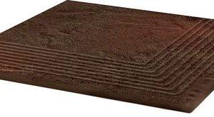 Керамическая плитка Semir Brown Ступень угловая структурная 30х30х1
