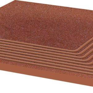 Керамическая плитка Taurus Rosa ступень угловая структ 30х30х1