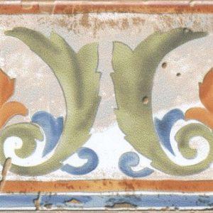 Керамическая плитка Виченца Бордюр Майолика HGD A153 17000 15х7