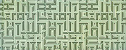 Керамическая плитка Nuvola Декор Verde Labirint 50