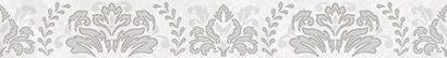 Керамическая плитка Afina Damask Бордюр серый 56-03-06-456 5х40
