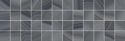 Плитка мозаика Agat Декор мозаичный серый MM60085 20х60