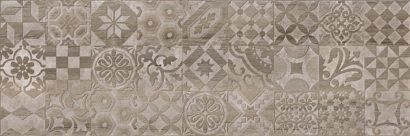 Керамическая плитка Альбервуд Декор 1 коричневый 1664-0165 20х60