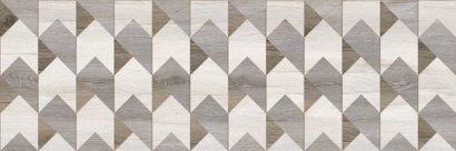 Керамическая плитка Альбервуд Декор геометрия 1664-0169 20х60