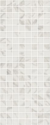 Керамическая плитка Алькала Декор белый мозаичный MM7203 20х50