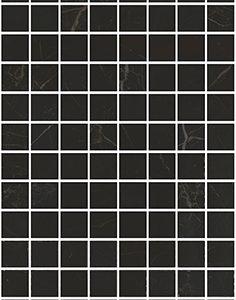 Керамическая плитка Алькала Декор черный мозаичный MM7204 20х50