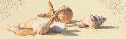 Керамическая плитка Amalfi sand 03 Панно 25x80 (панно из 2-х шт)