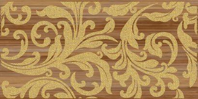 Керамическая плитка Ampir Декор бежевый темный 25х50