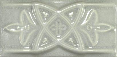 Керамическая плитка Antique Crackle Cenefa Relieve Greengreycrack Бордюр 75х150 мм 12шт