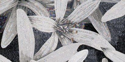 Керамическая плитка April Декор 1 чёрный 25х50
