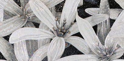Керамическая плитка April Декор 2 чёрный 25х50