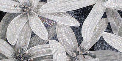 Керамическая плитка April Декор 3 чёрный 25х50
