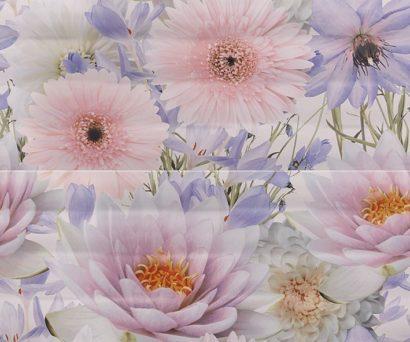 Керамическая плитка Aquarelle lilac Панно 01 50х60