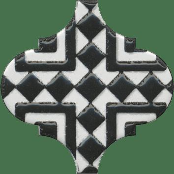 Керамическая плитка Арабески Декор глянцевый орнамент OS A25 65000 6