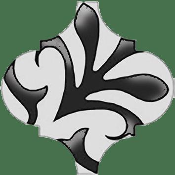 Керамическая плитка Арабески Декор глянцевый орнамент OS A33 65000 6