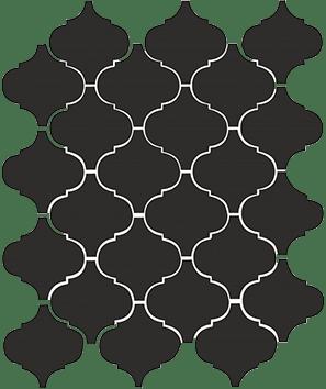 Керамическая плитка Арабески глянцевый черный 65001 26х30