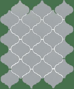 Керамическая плитка Арабески глянцевый серый 65012 26х30