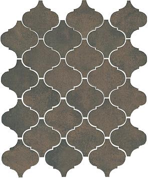 Керамическая плитка Арабески котто коричневый 65004 26х30