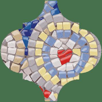 Керамическая плитка Арабески Майолика Декор Гауди OP A170 65000 6