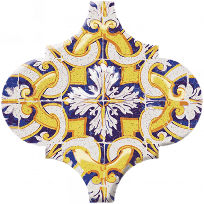 Керамическая плитка Арабески Майолика Декор орнамент OP A159 65000 6
