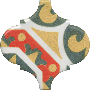 Керамическая плитка Арабески Майолика Декор орнамент OS A35 65000 6
