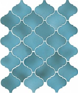 Керамическая плитка Арабески Майолика голубой 65005 26х30