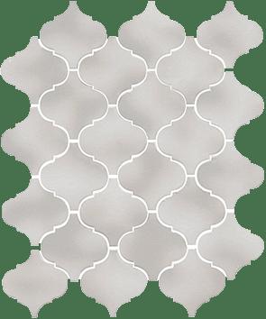 Керамическая плитка Арабески Майолика серый светлый 65011 26х30