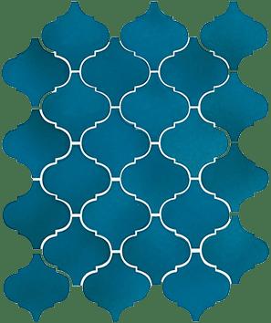 Керамическая плитка Арабески Майолика синий 65007 26х30