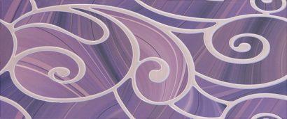 Керамическая плитка Arabeski purple 01 Декор 25х60