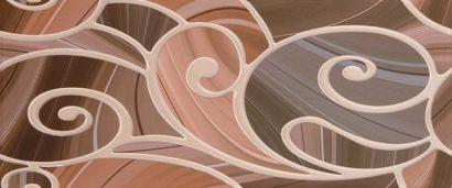 Керамическая плитка Arabeski venge 01 Декор 25х60
