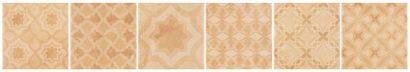 Керамическая плитка AREZZO Varese Mix Crema Декор 151x151 мм 80