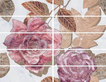Керамическая плитка Argos flowers Бордюр 7