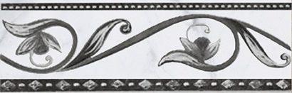 Керамическая плитка Argos nero бордюр 8х25