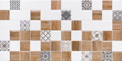 Керамическая плитка Астрид Декор 2 белый 1041-0239 20х40