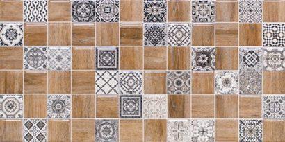 Керамическая плитка Астрид Декор 3 натуральный 1041-0242 20х40