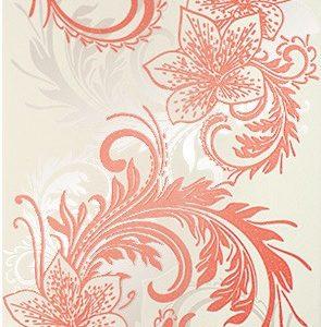 Керамическая плитка Азур Крем Декор бело-алый 1645-0052 25х45