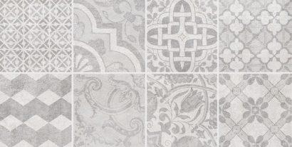 Керамическая плитка Bastion Декор с пропилами мозаика серый 08-03-06-453 20х40