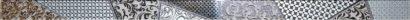 Керамическая плитка Берген Бордюр стеклянный серый 3