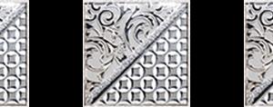 Керамическая плитка Берген Комплект стеклянных вставок (3шт компл.) серый 4