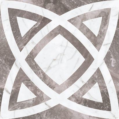 Керамогранит Black&White Декор Серый K-62 NR d01 60x60