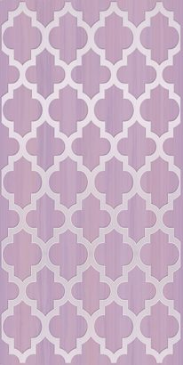 Керамическая плитка Buhara Декор лиловый 25х50