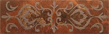 Керамическая плитка Букингем 3Т Бордюр коричневый 30х9