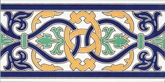 Керамическая плитка Cenefa Talavera Плитка настенная 14х28